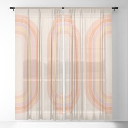 Tangerine Tunnel Sheer Curtain