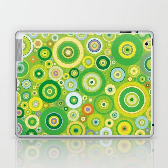 Green circles vintage pattern Laptop & iPad Skin