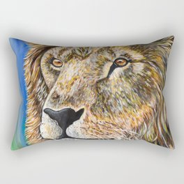 Portrait of a Lion Rectangular Pillow