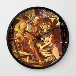 Dreaming with the pharaoh Wall Clock