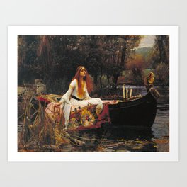 John William Waterhouse - The lady of shalott Kunstdrucke