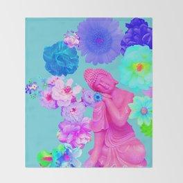 Pink Buddha Throw Blanket