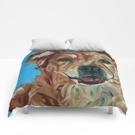 Cody the Golden Labrador Mix Dog Portrait Comforters