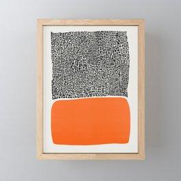 City Sunset Abstract Framed Mini Art Print
