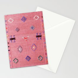 Pink Oriental Traditional Boho Moroccan Style Design Artwork Stationery Cards