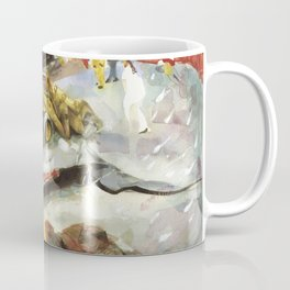 Blue whale on Second Beach, dissection with back-hoe, No. 1 - Middletown Coffee Mug