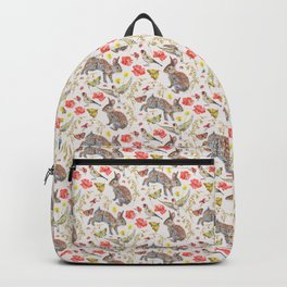 Bunny Meadow Pattern Backpack