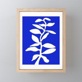 blue stem Framed Mini Art Print