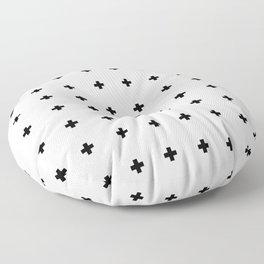 Swiss Cross White Small Floor Pillow