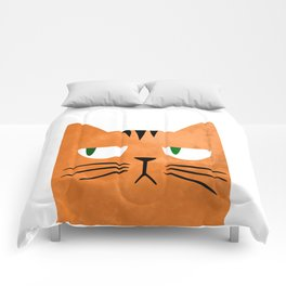 Orange cat with attitude Comforters