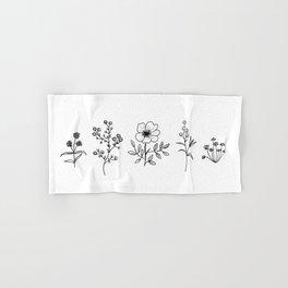 Patagonian Little Wildflowers Hand & Bath Towel