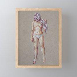 Jumping Woman Framed Mini Art Print