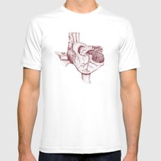 The Heart of Texas (A&M) White MEDIUM Mens Fitted Tee