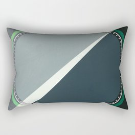 London - green circle Rectangular Pillow