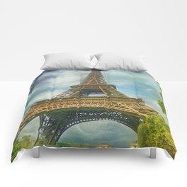Eiffel Tower - La Tour Eiffel Comforters