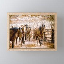 Stampede Framed Mini Art Print
