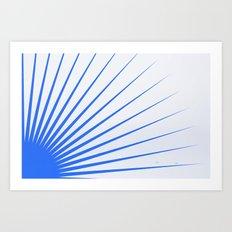 Blue rays Art Print