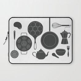 Kitchen Tools (black on white) Laptop Sleeve