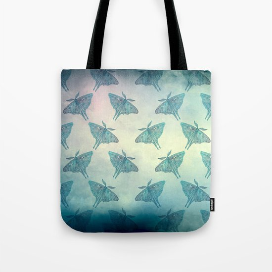 Moth Pattern Tote Bag