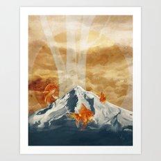 The Fish of Mt Hood Art Print