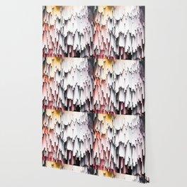 White Black Mauve Cascade Abstract Wallpaper