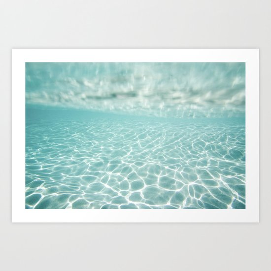 Under Water Light Art Print