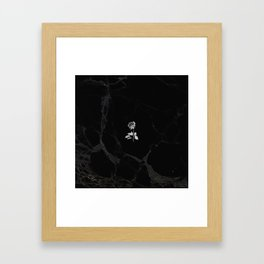 Forever Petal (Black Silver) Framed Art Print