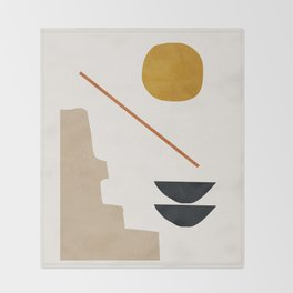 abstract minimal 6 Throw Blanket