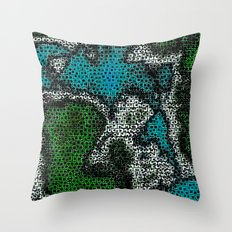 Mapped Throw Pillow