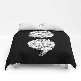 floral semicolon monochrome Comforters
