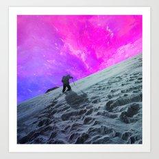 Lone Hiker Art Print