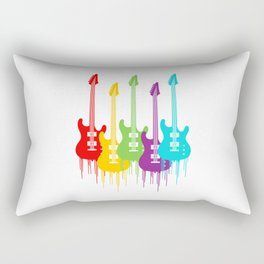 Colorful Guitars | Music is the color for the ears Rectangular Pillow