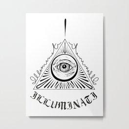 Old English Illuminati Metal Print
