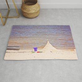 Sand Castle at the Beach Rug