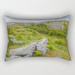 Cloudy Poulnabrone Landscape Rectangular Pillow