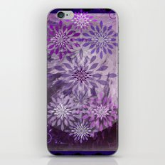 LACE AND LEATHER - Underwear Love Project Deep Purple Lace Pattern Fancy Elegant Typography Abstract iPhone & iPod Skin