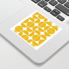 Mid Century Modern Geometric 04 Yellow Sticker