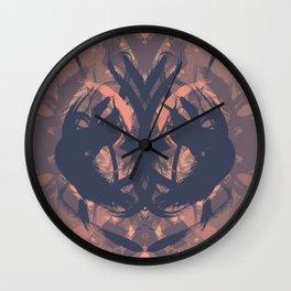 Rorschah Pink Wall Clock