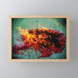 Firecracker Fire Framed Mini Art Print