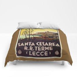 Vintage Italian travel Santa Cesarea Terme Lecce Comforters