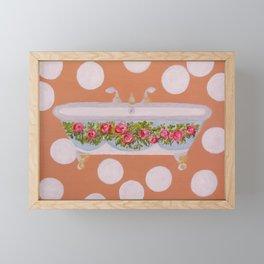 Circles and Suds Bathroom Art Framed Mini Art Print