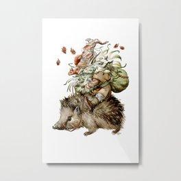 Forest Gnome by Anna Helena Szymborska Metal Print