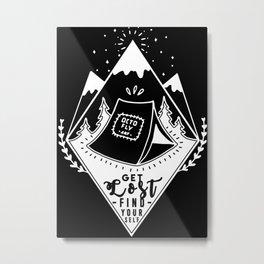 Get Lost Metal Print
