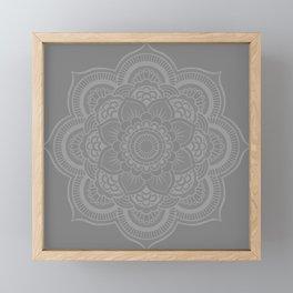 Gray Mandala Framed Mini Art Print