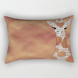 Vintage Giraffe Rectangular Pillow