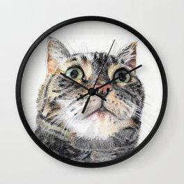Big Eyed Cat Wall Clock
