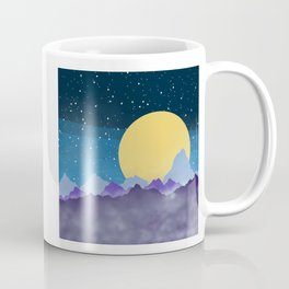 Misty Mountains Moon and Stars Coffee Mug