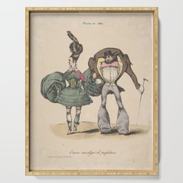 The Fashions of 1830  A Further Degree of Perfection (Encore un dégré de perfection  Modes de 1830), Serving Tray