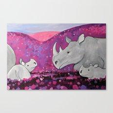 Field of Purple Canvas Print