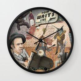 Tom Waits' Melodramatic Nocturnal Scene Wall Clock
